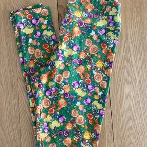 LuLaRoe OS Disney Leggings Daisy Duck
